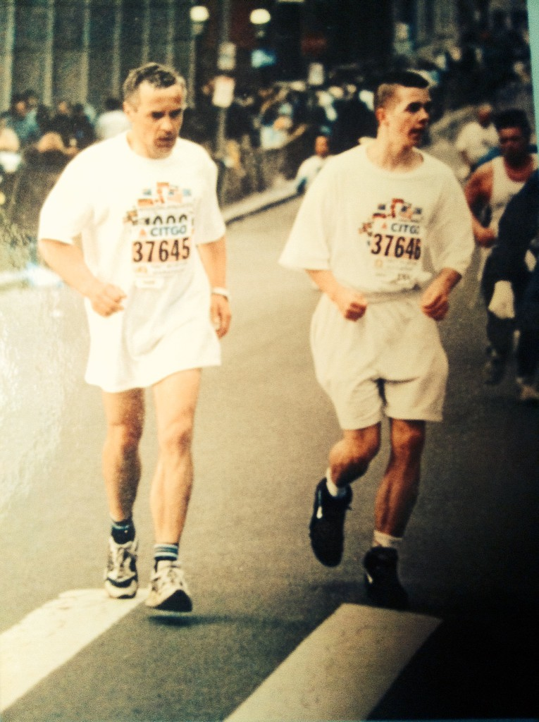 Ilkka Kurkela, Tapio Kurkela, Dream come true at Boston Marathon 1996