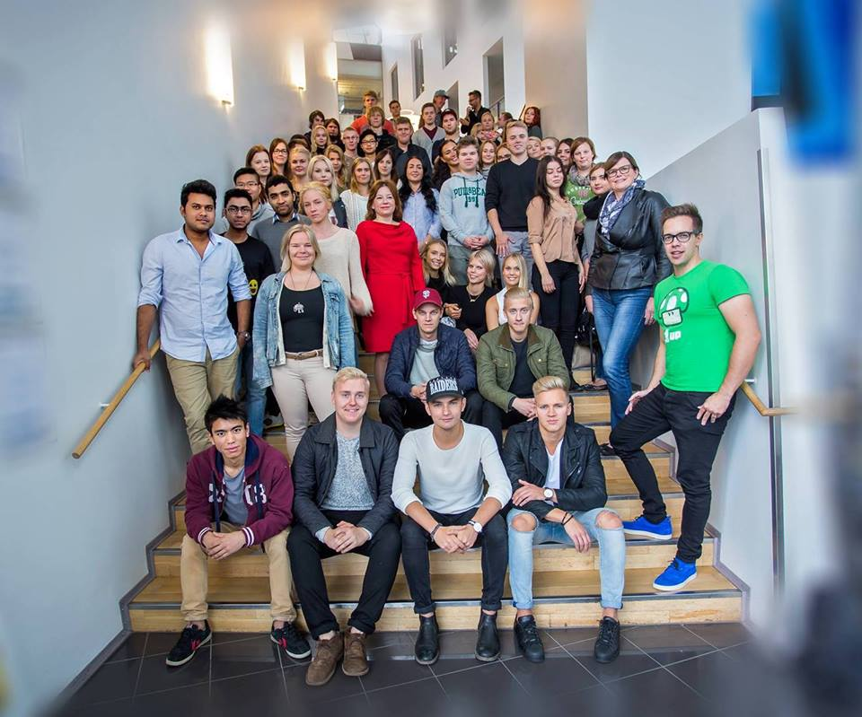 The heroes of Laurea's Digital Business study module autumn 2015