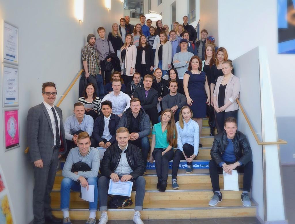 Laurea UAS Digital Business students global studies graduation